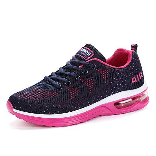 Monrinda Turnschuhe Damen Sportschuhe Herren Sneaker Sports Laufschuhe Running Fitness Outdoorschuhe Outdoors Schuhe Hblueplum 39