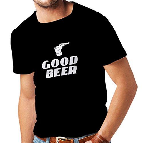 lepni.me Männer T-Shirt Ich Brauche EIN gutes Bier, Geschenk für Bierliebhaber Partykleidung (Medium Schwarz Weiß)