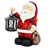 Wichtelstube-Kollektion 25cm Weihnachtsmann Dekofigur mit Laterne Weihnachtsdeko aussen Garten