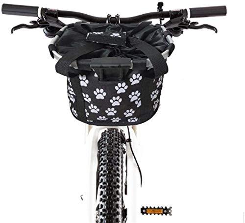 YANJ Radkörbe, Fahrradkorb Abnehmbar B IKE Abnehmbarer Zyklus Front Falten Kleine Haustierkatze Hundeträger Radfahren Tasche Korb Tragetasche Tasche