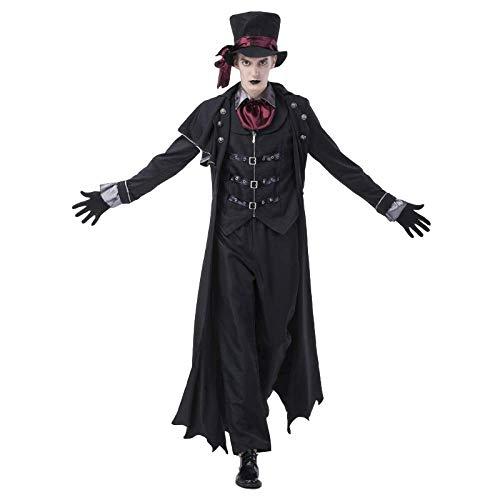 LYMCDP Disfraces De Halloween, Parejas De Adultos, Disfraces De Conde Vampiro, Disfraces De Diablo De Club Nocturno, Disfraces De Zombies