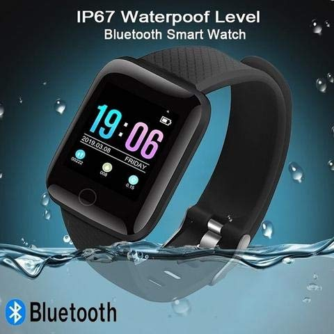Raptas [Today Only Sale] D116 Touchscreen Smart Watch Bluetooth Smartwatch with Heart Rate Sensor and Basic Functionality for All Boys & Girls