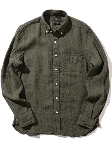 (ビームス)BEAMS/カジュアルシャツ PLUS ソリッド リネンボタンダウンシャツ メンズ OLIVE L