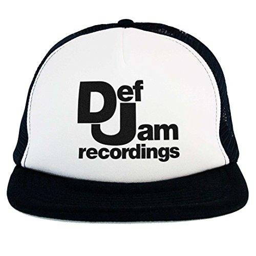 Cappello Def Jam Snapback Cap nero musica Rap Hip Hop anni 80 90 old school