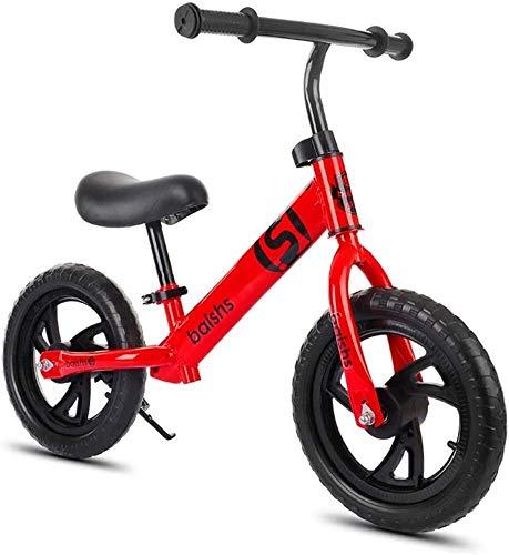 Bicicleta de Equilibrio 12' amarillo bicicleta de equilibrio for las edades de 2 a 6 años de edad con ajustable manillar / asiento Hijos no Pedal Caminar Bicicleta suave asiento Niño Niña Formación de