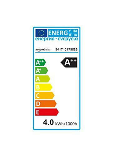 AmazonBasics Bombilla LED Esférica E27 con Filamento, 4.3W (equivalente a 40W), Blanco Cálido - 6 unidades