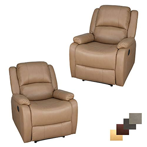 Set of 2 | RecPro Charles Collection | 30' Zero Wall RV Recliner | Wall Hugger Recliner | RV Living Room (Slideout) Chair | RV Furniture | RV Chair | Toffee