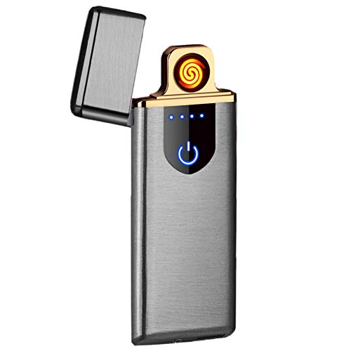 Lighters,Electric Lighters Dual Arc Lighter USB lighters Plasma Flameless Rechargeable Lighter...
