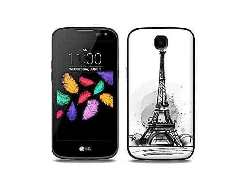 etuo Handyhülle für LG K3 LTE (K100) - Hülle, Silikon, Gummi Schutzhülle - Eiffelturm