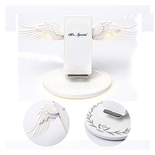 Douerge Angel Wings Smart Wireless Charger QI Ladestation mit Fremdkörpererkennung Induktion Shrink 10w Tragbares Handy-Ladegerät Unterstützt alle kabellosen Ladegeräte für Smartphones