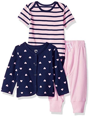 Amazon Essentials Baby 3 Piece Cardigan Set Girl Heart Newborn product image