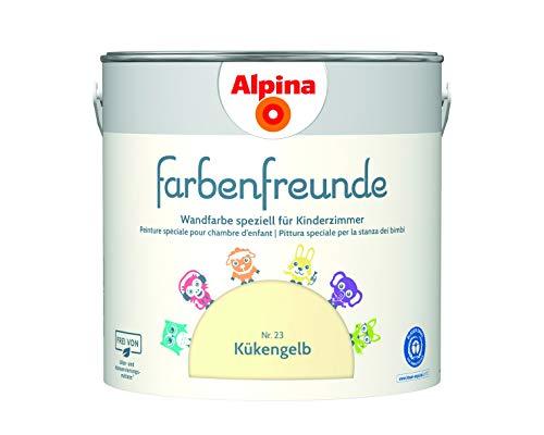 Alpina Farbenfreunde 2,5L Kinderzimmerfarbe Wandfarbe (Nr.23 Kükengelb)