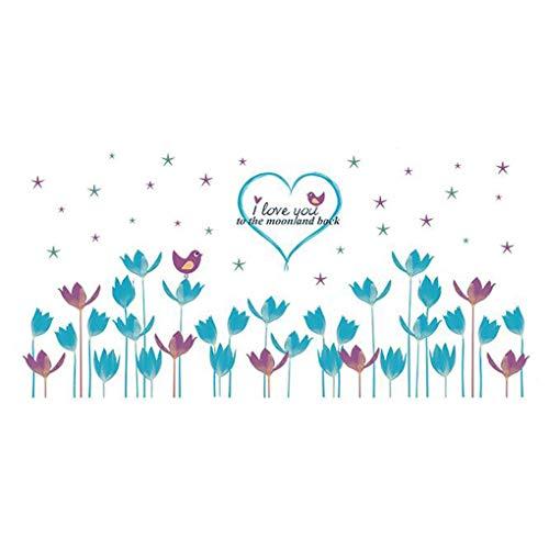 Dessin animé animaux Stickers muraux Stickers muraux Home Decor pour bébé garçons filles enfants Chambre à coucher Décoration de cuisine Flowers Heart Shape Stars