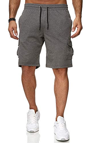 Reslad Kurze Hose Herren Cargo Bermuda Shorts Jogginghose Sport-Hose RS-5069 Anthrazit XL