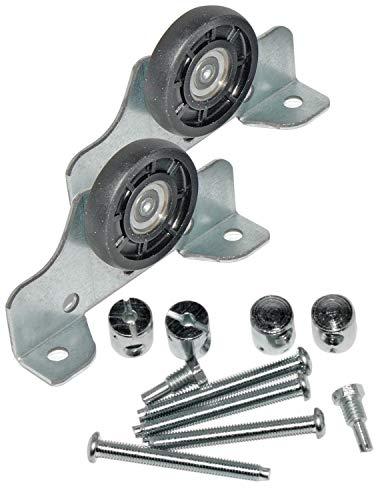 2 Stück Laufteile von Hettich für obenlaufende Schiebetürsysteme # 01481/82, Metall verzinkt, Kunststoff, ø 35 mm, 89068