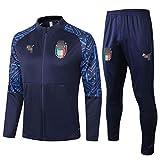 ムバペのウォームアップスーツ、パリサンジェルマンフランスのジャージ、イタリアの長袖、快適で速乾性のあるスポーツウェア,ブルー,S