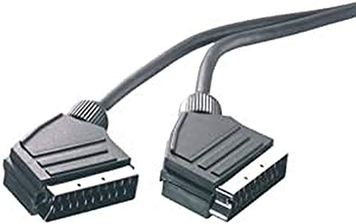 Vivanco Audio-/Videokabel (Scartkabel, Verbindungskabel, Scartstecker, vollverschaltet, 3 m)