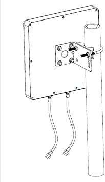LOW COST MOBILE Antena 5G Panel Direccional 15 dBi 3500 MHz 2 x 30 cm Negro Cable LMR200 Conector SMA para routers, hotspot y módem 5G (0,3 m)