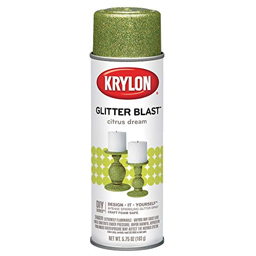 Krylon Glitter Blast Glitter Spray Paint for Craft Projects, Citrus Dream Green