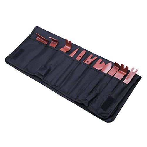 Kit d'outils pour démontage de garniture de voiture - 11 pièces - Démontage de garniture de tableau de bord, console centrale du tableau de bord, installation audio radio, rembourrage