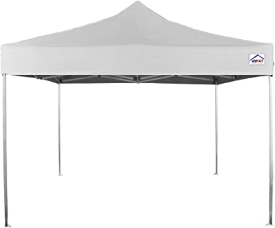 Impact Canopy 283140301-1 Outdoor Tent, 10 x 10 Pop Up Canopy, Steel Frame, Sidewalls, Roller Bag, 10' x 10', White
