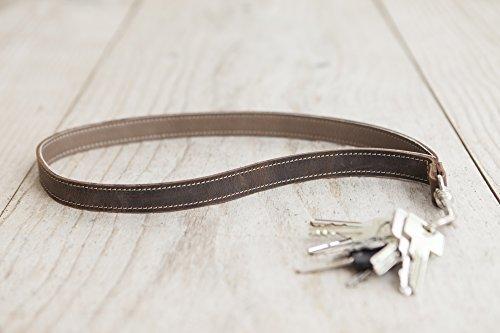 Schlüsselband aus Leder braun Lederlanyard Geschenk für Ihn