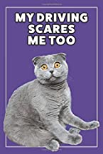 My Driving Scares Me Too: College Ruled Purple Lined Notebook Cat Lover Memes