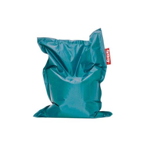 Fatboy® Junior türkis | Original Nylon-Sitzsack | Klassisches Indoor Sitzkissen speziell für Kinder | 130 x 100 cm