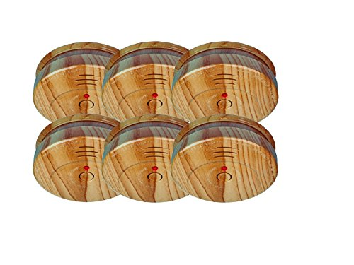 6er-SET Rauchmelder in Holzoptik mit austauschbarer 5 Jahres Batterie - Jetzt 5 Jahre Brandschutz sichern!