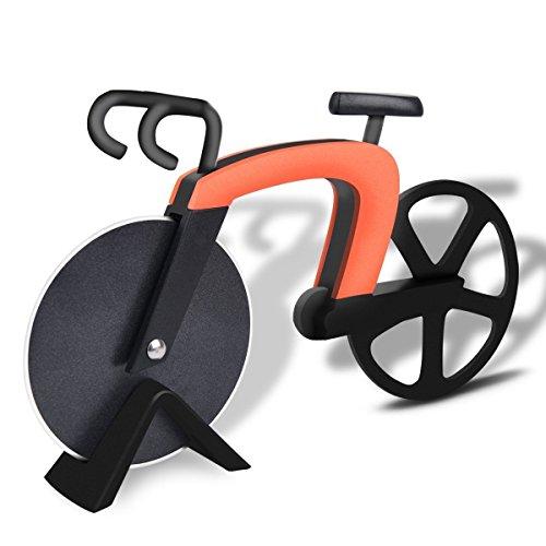 Bangy Coupe-pizza en acier inoxydable anti-adhésif pour vélo Orange