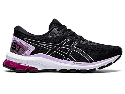 ASICS Women's GT-1000 9 Running Shoes, 8, Black/Pure Silver