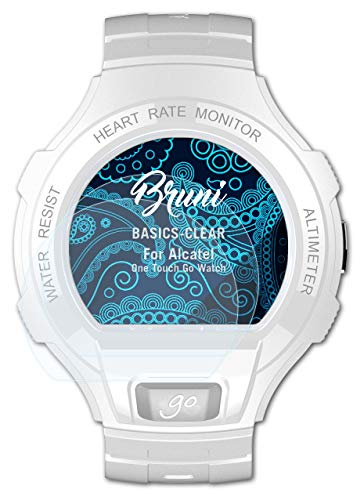 Bruni Schutzfolie kompatibel mit Alcatel One Touch Go Watch Folie, glasklare Bildschirmschutzfolie (2X)