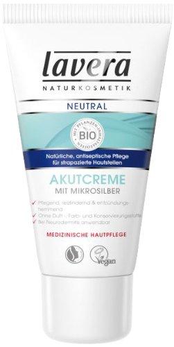 lavera Neutral Akutcreme mit Mikrosilber Strapazierte Haut Neurodermitis vegan Bio Pflanzenwirkstoffe Naturkosmetik Natural & innovative Hautpflege Creme 1er Pack (1 x 50 ml)