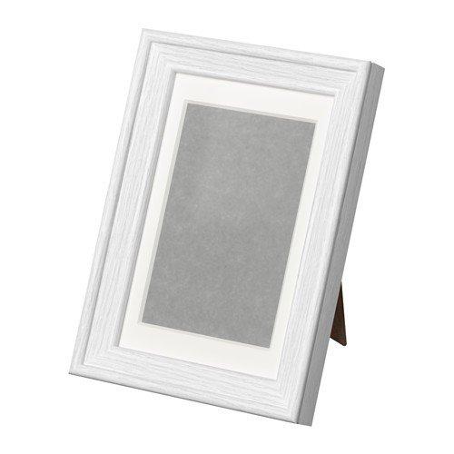 Ikea KNOPPÄNG Rahmen in weiß; inkl. Passepartout; (10x15cm)