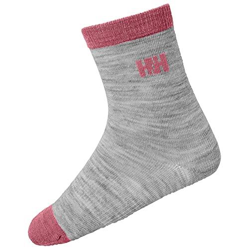 Helly Hansen Kinder Wool Socken, Grey Melange Pink, 26-28