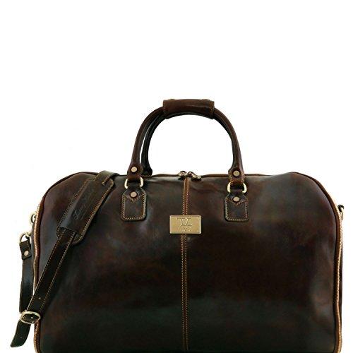 Tuscany Leather Antigua - Maleta de Viaje/Porta Trajes en Piel - TL141538 (Marrón Oscuro)