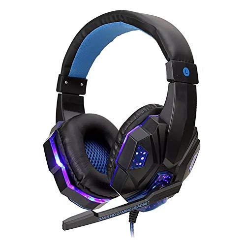 HEHE El Profesional Llevó La Luz Gamer Headset para PS4 Juego De La Computadora Auriculares Estéreo Bajo Ajustable PC Auricular con Cable