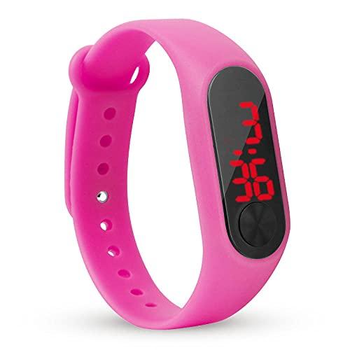 SANDA Reloj Infantil,Reloj electrónico del Reloj electrónico de la Pulsera electrónica.-Rosa