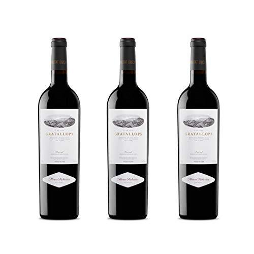 Gratallops Vino tinto - 3 botellas x 750ml - total: 2250 ml