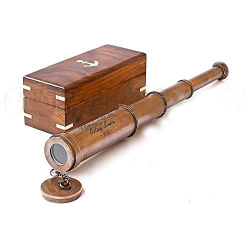 Decorative Vintage Copper Polished Brass Telescope