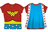 DC Comics Wonder Woman Toddler Costume Red Caped T-Shirt (3T, Medium)