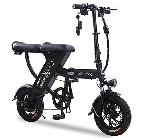 LIXUE Bicicleta Electrica 48V Plegable E-Bike 12
