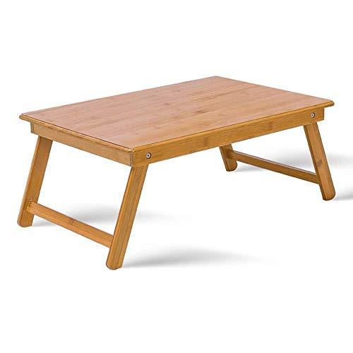 HYY-YY Zusammenklappbarer Laptop-Schreibtisch, tragbar, Bett, Laptop-Ständer aus Holz, mit klappbaren Beinen für Zuhause und Schule, für Bett, Sofa, Boden (Farbe: Natur, Größe: 65 x 45 cm)