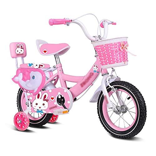 ZXZS Bicicleta De Bicicleta para Niños con Ruedas De Entrenamiento Adecuadas para Niños Y Niñas De 3 A 8 Años.