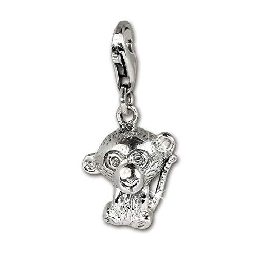 SilberDream Armband Anhänger Charm AFFE Sterling 925 Echt Silber D2FC1044 EIN schönes Geschenk zu Weihnachten, Geburtstag, Valentinstag für die Frau