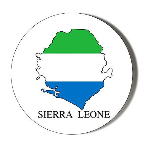 Abrebotellas magnético de 58 mm con bandera de Sierra Leona