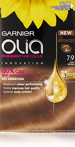 Garnier Olia Permanent Hair Colour - 7.9 Light Bronze (Ammonia Free, Oil Based)