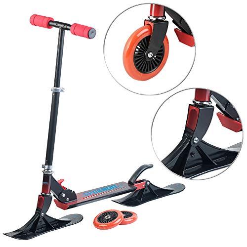 Speeron Scooter: Klappbarer 2in1-Tretroller und -Snowkick-Schlitten für Kinder, 125 mm (Scooter-Roller)