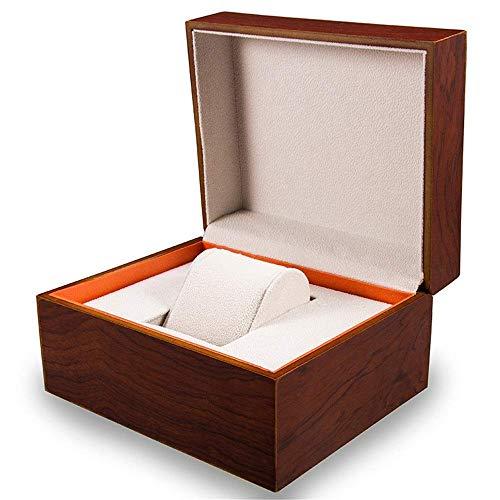 ZHENAO Caja de relojes para relojes, caja de almacenamiento para relojes Bo's Gift - Caja de almacenamiento de joyas de madera mate para relojes de lujo / Marrón/Pequeño