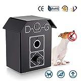 無駄吠え防止グッズ 無駄吠え禁止 4段階感度調節 超音波 愛犬しつけ用グッズ 室内外使用可能 音感センサー自動感知 LED 表示ランプ 全犬種使用可能